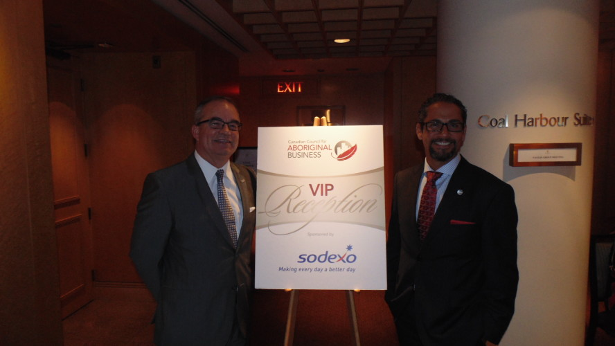 Barry Telford, Sodexo Canada president and JP Gladu, president and CEO for CCAB at the CCAB's 12th Annual Vancouver Gala.