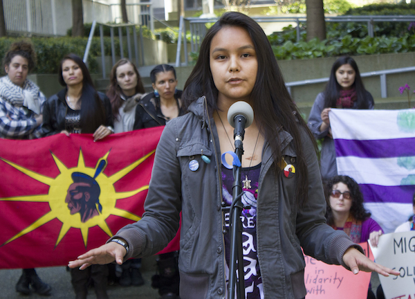 Valeen Jules OccupyINAC Vancouver photo by Sophie Woodrooffe