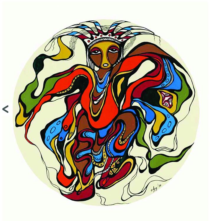 Powoww Dancer by Daphne Odjig