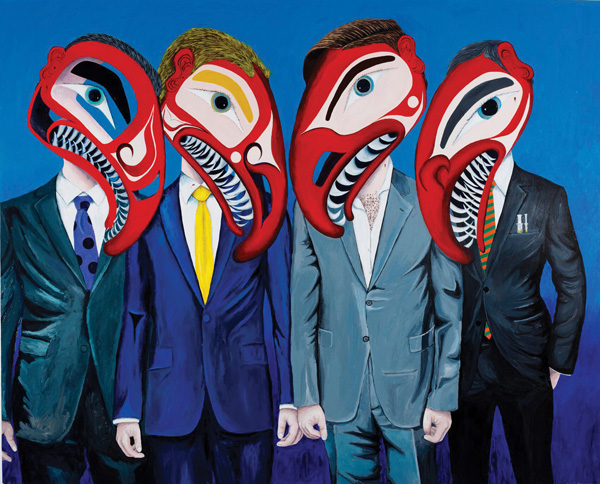Fish Farmers They Have Sea Lice, 2014 acrylic on canvas 162.6 x 244 cm.