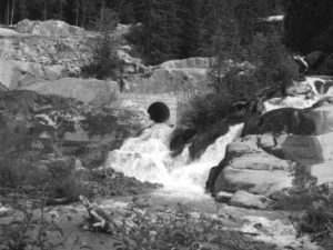 Water Flowing out of the tailrace culvert