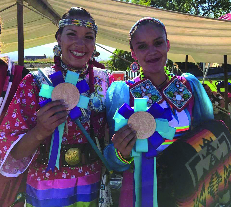 (Right to left) Violet John of the Kehewin First Nation and Sandra Yellow Horn of the Piegan Nation
