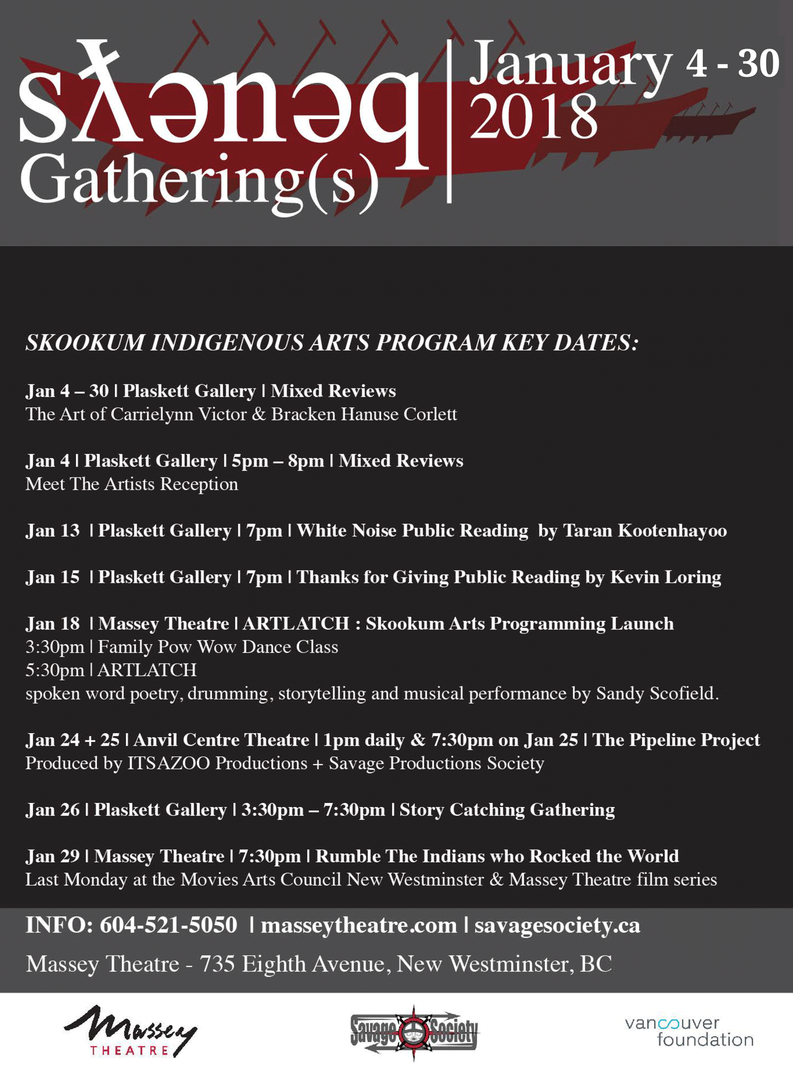 Skookum indigenous arts program key dates