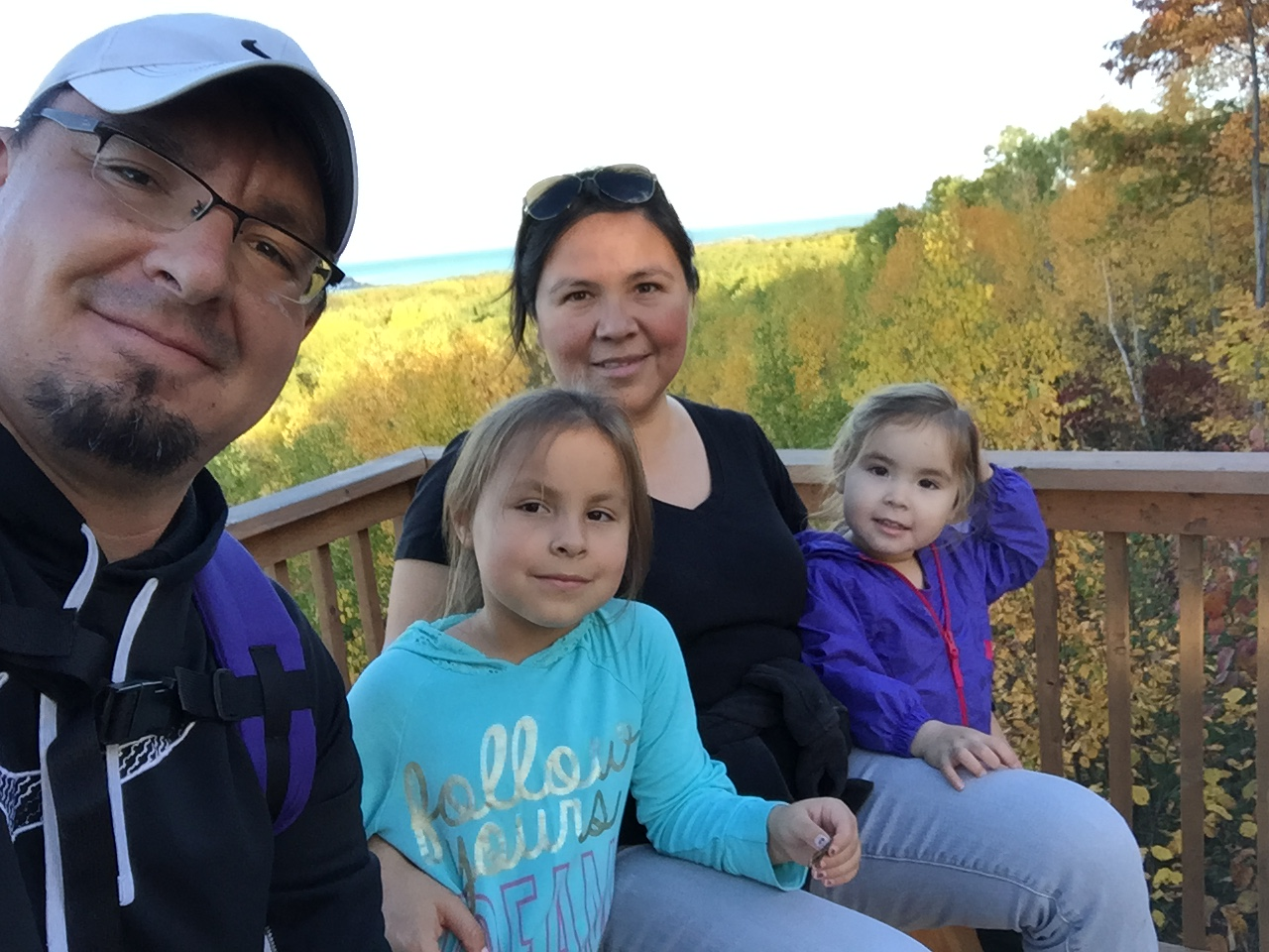 Marcia Trudeau-Bomberry and family. From left to right: Saul Bomberry, Olive-Marie Bomberry, Marcia Trudeau Bomberry, Lauren Bomberry