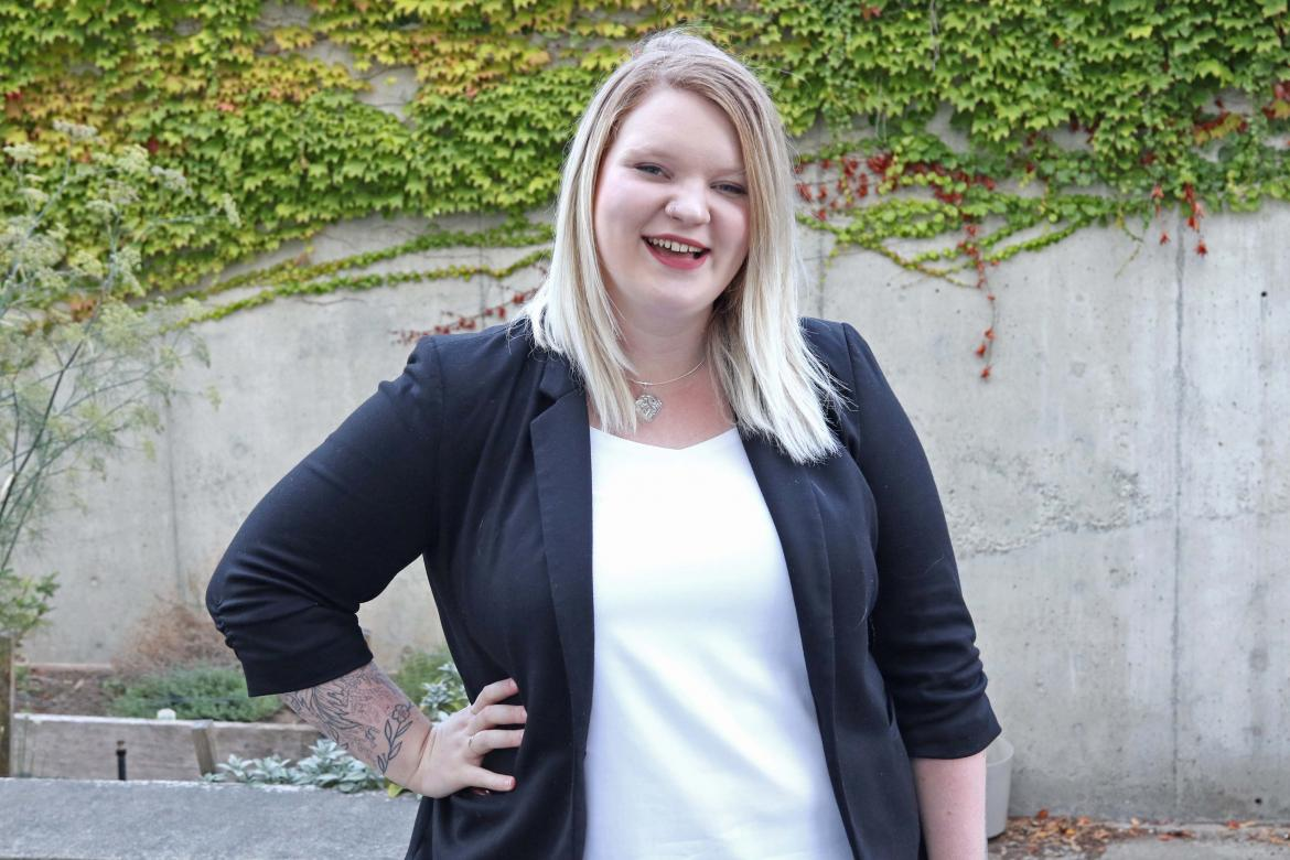 Ruby Barclay speaks out about the value of post-secondary education| Photo By Vancouver Island University